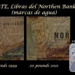 Irlanda del Norte serie libras Northern Bank 1997-2011 marcas de agua