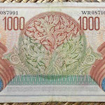 Indonesia 1000 rupias 1952 reverso