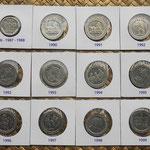 España -monedas de 200 pesetas acuñadas entre 1986 y 1999
