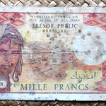 French Afars and Issas 1000 francos 1975 anverso