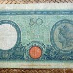 Italia 50 liras 1943 reverso