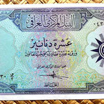 Irak 10 dinares 1958 anverso