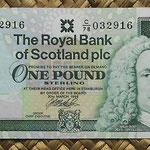 Escocia 1 pound 1999 (128x64mm) pk.351d anverso