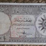 Irak 1/2 dinar 1959 (140x70mm) pk.52a anverso