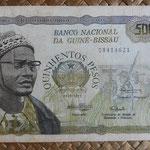 Guinea Bissau 500 pesos 1975 (160x85mm) pk.3a anverso