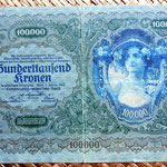 Imperio Austrohúngaro 100000 coronas 1922 anverso