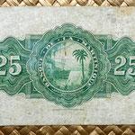 Isla Martinica 25 francos 1943 reverso