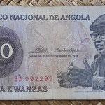 Angola 10 kwanzas 1976 (140x65mm) pk.110a anverso