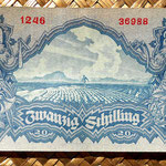 Austria 20 shillings 1945 reverso