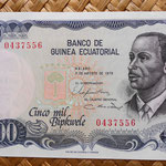 Guinea Ecuatorial 5000 bipkwele 1979 (150x78mm) anverso