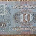 Estonia 10 krooni 1937 (130x82mm) pk.67 reverso