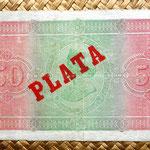 Cuba colonial 50 pesos 1896 reverso