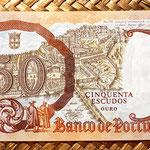 Portugal 50 escudos 1964 reverso