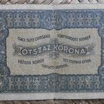 Hungria 500 coronas 1923 (130x74mm) pk.74a reverso