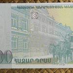 Armenia 1.000 dram 2001 (140x70mm) pk.50b reverso