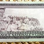 Congo 100 makutas 1967 reverso