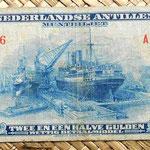 Antillas holandesas 2,5 gulden 1955 anverso