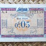 Francia 0.05 francos 1923 -Régie des Chemins de Fer des Territoires Occupés- anverso
