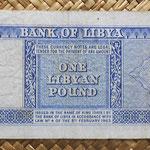 Libia 1 libra 1963 (155x67mm) pk.30 reverso