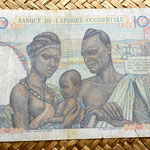 French West Africa 100 francos 1948 reverso