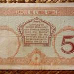 Nueva Caledonia 5 francos 1926 pk. 36b reverso