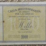 Grecia ocup. italiana WWII 1000 dracmas 1941 pk.M6 reverso