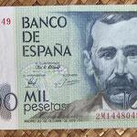 España 1.000 pesetas 1979 (138x75mm) pk.158 serie 2M anverso