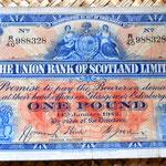 Escocia 1 libra 1942 Edimburgo anverso