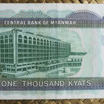 Myanmar 1000 kyats 2004 (150x69mm) pk.80 reverso