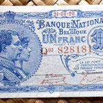 Bélgica 1 franco 1920 (84x48mm) anverso