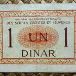 Reino de Serbia, Croacia y Eslovenia 1 dinar 1919 reverso