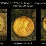 Congo Belga serie Francos 1941-50 marcas de agua