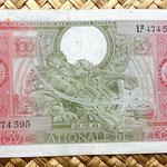 Bélgica 100 francos-20 belgas 1943 anverso