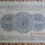 Alemania ocup. Kowno WWI 1 mark 1918 (124x78mm) pk.R128 reverso