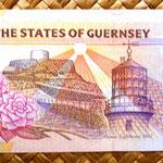Isla de Guernsey 5 pounds 1996 reverso