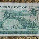 Islas Fiji 0,50 dollar 1971 (156x67mm) pk.64b reverso