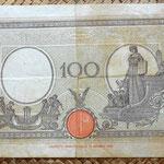 Italia 100 liras 1942 reverso