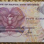 Papua Nueva Guinea 5 kinas 1992 (140x70mm) pk.13d anverso