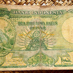 Indonesia 2500 rupias 1957 anverso