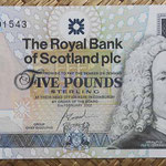 Escocia 5 pounds 2002 Royal Bank Conmemorativo TQGJ (135x72mm) pk.362 anverso