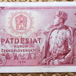 Checoslovaquia 50 korun 1964 anverso