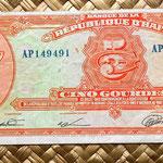 Haiti 5 gourdas 1979 anverso
