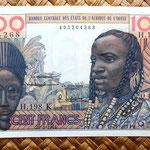 Senegal 100 francos 1961 anverso