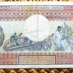 Chad 500 francos 1974 reverso