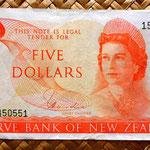 Nueva Zelanda 10 dólares 1977 anverso