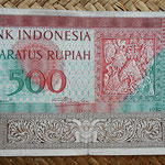 Indonesia 500 rupias 1952 (150x90mm) pk.47 anverso