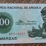 Angola 100 kwanzas 1976 (140x65mm) pk.111a anverso