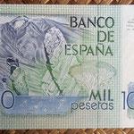 España 1.000 pesetas 1979 pk.158 reverso