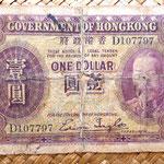 Hongkong dolar 1935 Jorge V anverso