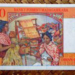 Madagascar 2500 francos - 500 ariary 1998 pk.81 reverso